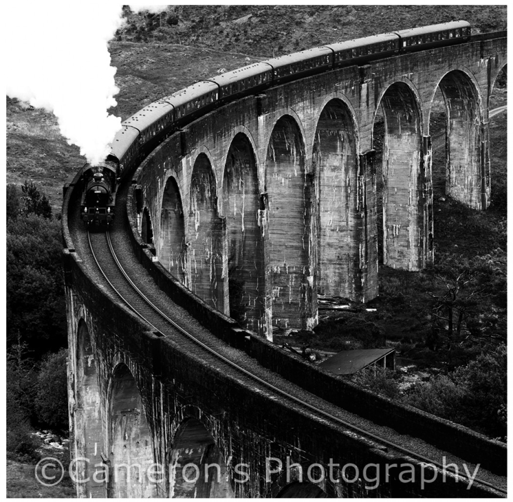 3863 Jacobite Glenfinnan Viaduct