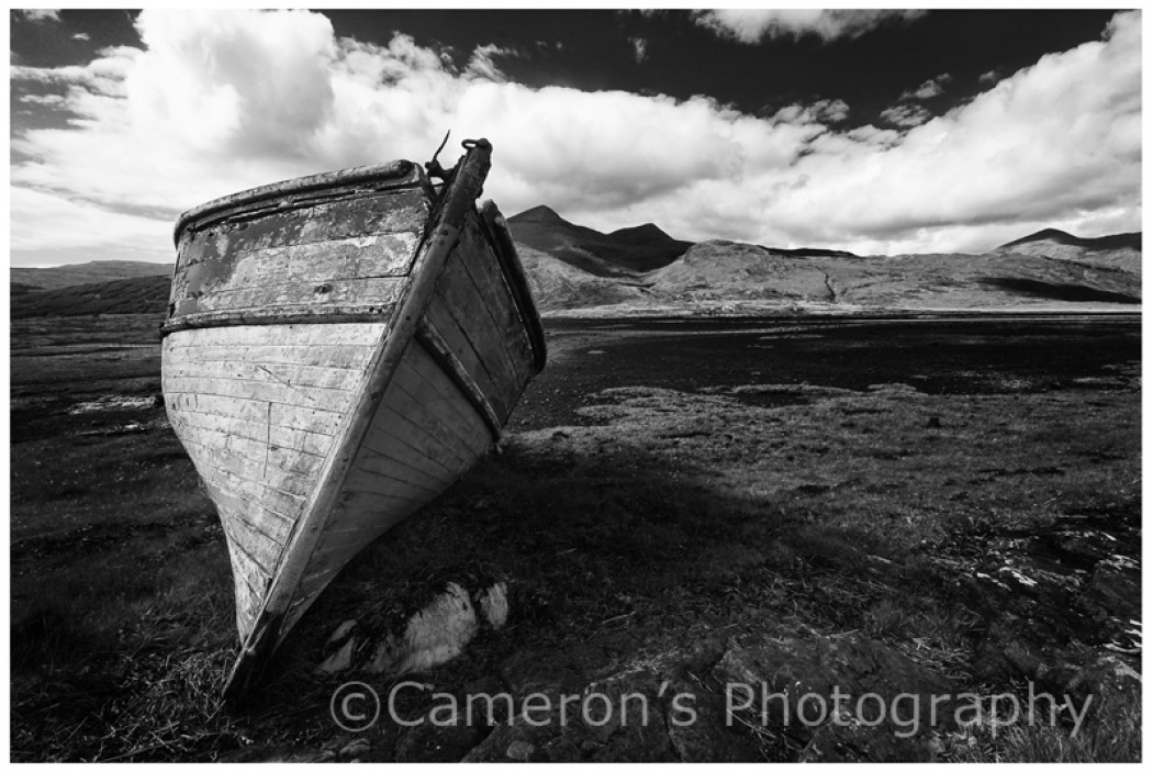 9422 Abandoned Boat Pennyghael Isle of Mull