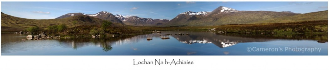 Lochan na h Achiaise_Panorama With Title1